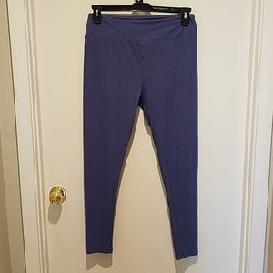 LuLaRoe Tall & Curvy blue leggings